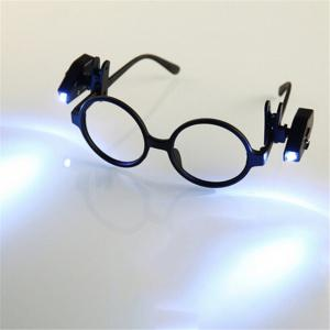 2PCS YWXLight MINI LED Eyeglass Flashlight with Rotate Clip for Old People Maintenance Worker -