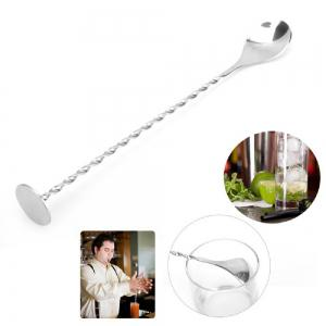 YEDUO Stainless Steel Threaded Bar Spoon Swizzle Stick Coffee Cocktail Mojito Wine Spoons Barware Bartender Tools -