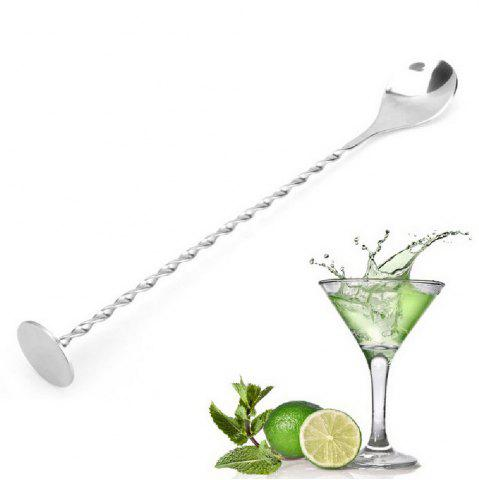 Cheap YEDUO Stainless Steel Threaded Bar Spoon Swizzle Stick Coffee Cocktail Mojito Wine Spoons Barware Bartender Tools