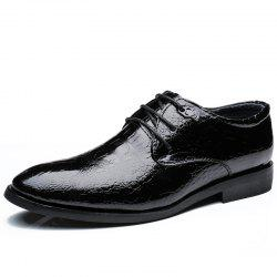 ZEACAVA Men's Casual Heighten Leather Business Shoes -