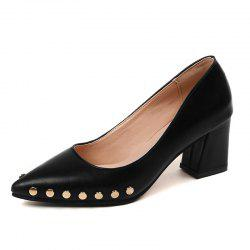 Shallow Mouth Nail All-match High Heels Shoes -