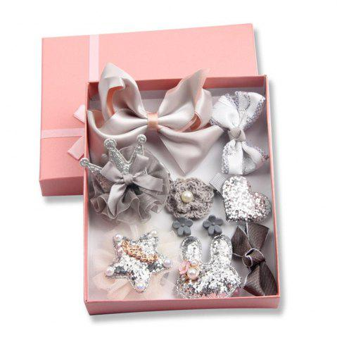 Shops Baby Hair Accessories Bow Tie 10 Pieces of Girls Jewelry Gray Series