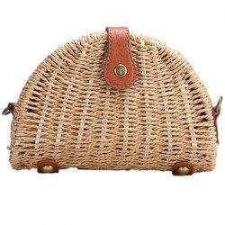 Straw Semicircle Woven Beach Shoulder Messenger Bag -