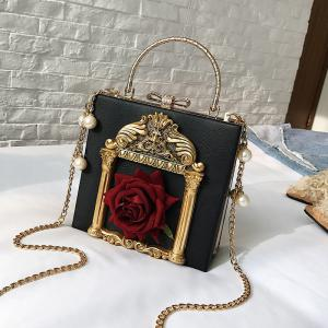 Fashion Personality Handbag Classical Flower Shoulder Messenger Bag -