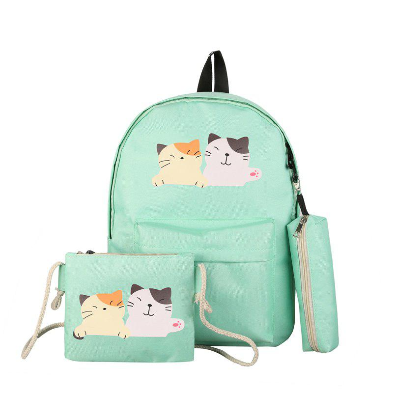 Outfit Three-piece Casual Cute College Backpack