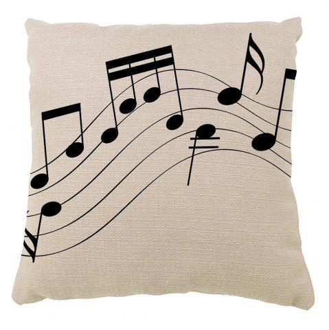 Chic Hand Painted Music Hold Pillow Case Sofa Cushion Cover