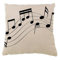Hand Painted Music Hold Pillow Case Sofa Cushion Cover -