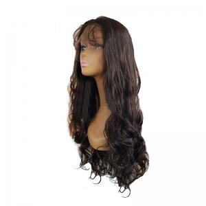 Black Long Curly Hair Chemical Fiber Front Lace Wig -
