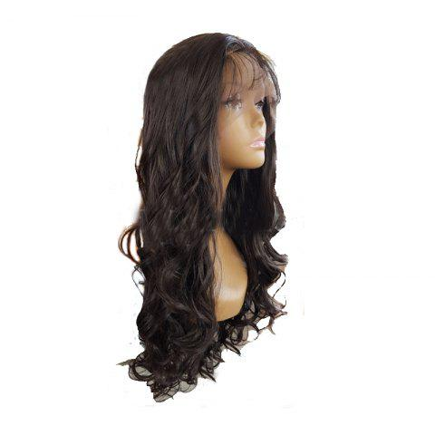 New Black Long Curly Hair Chemical Fiber Front Lace Wig