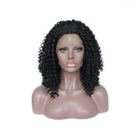Shop Small Black Roll Chemical Fiber Front Lace Wig