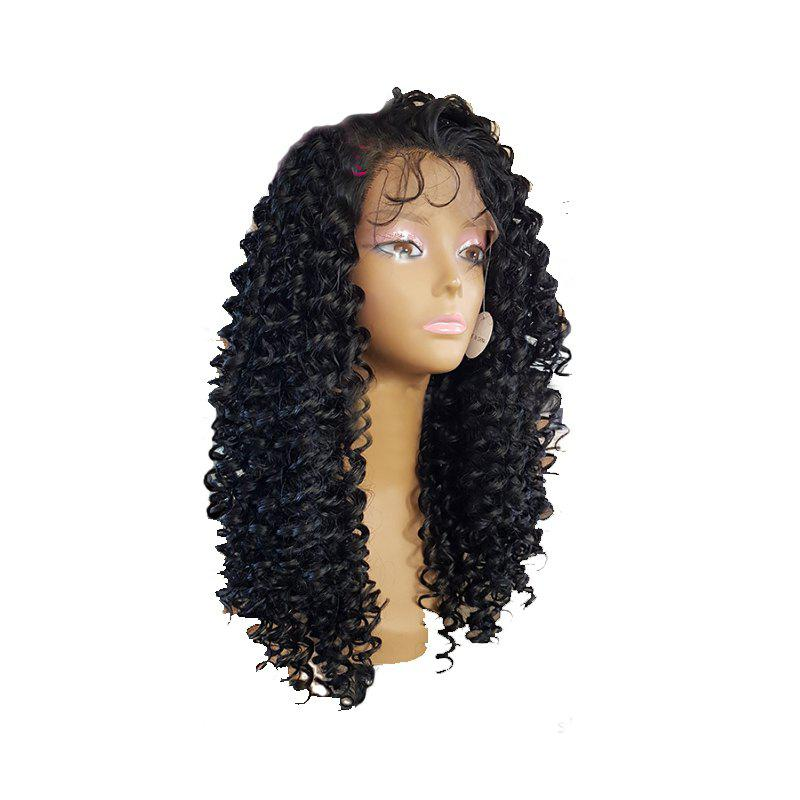 Shop Black Small Curved Chemical Fiber Front Lace Wig