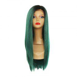 Long Straight Hair Chemical Fiber Front Lace Wig -