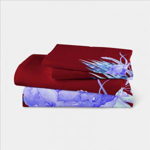 3D Painted Embroidery Petals Leaves Series Pillow Sofa Cushion Cover Lotus SK01 -