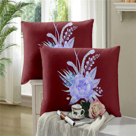 Affordable 3D Painted Embroidery Petals Leaves Series Pillow Sofa Cushion Cover Lotus SK01