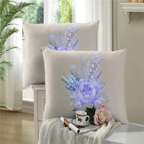 Unique 3D Selling Painted Embroidery Petals Leaves Series Pillow Sofa Cushion Cover Lotus SK01