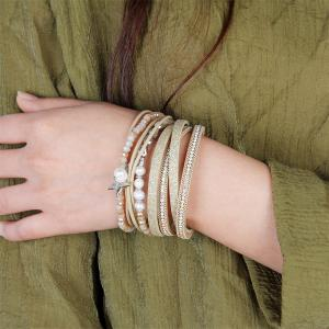 Fashion Multi Layer Cortical Pentagram Tassel Bracelet -