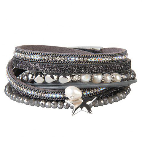 Chic Fashion Multi Layer Cortical Pentagram Tassel Bracelet