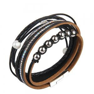 Fashion Personality Two Circle Cortico Crystal Beads Hand Chain -