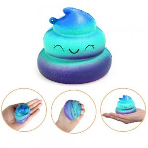 Jumbo Squishy Galaxy Whale and Starry Poop Emoji Stress Relief Soft Toy for Kids and Adults 2PCS -