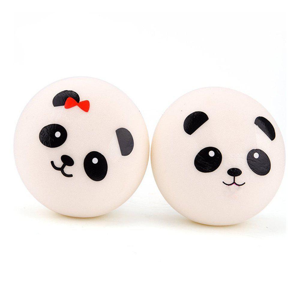 Outfit Jumbo Squishy Panda Bread Stress Relief Soft Toy for Kids and Adults 2PCS