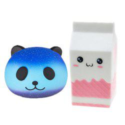 Slow Rising Jumbo Squishy Kawaii Bottle and Panda Soft Toy 2PCS -