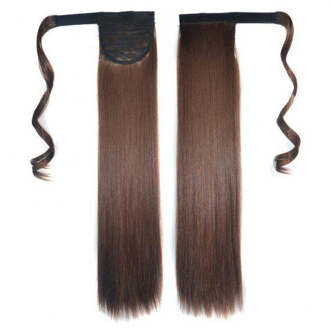 Fashion Long Straight Clip in Hair Ponytail Hairpiece with Magic Wrap Around