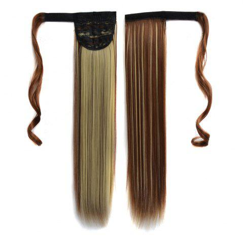 Shop Long Straight Clip in Hair Ponytail Hairpiece with Magic Wrap Around