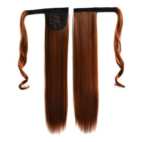Fancy Long Straight Clip in Hair Ponytail Hairpiece with Magic Wrap Around