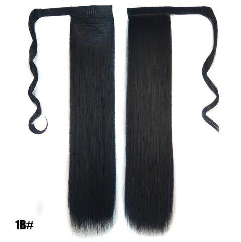 Trendy Long Straight Clip in Hair Ponytail Hairpiece with Magic Wrap Around