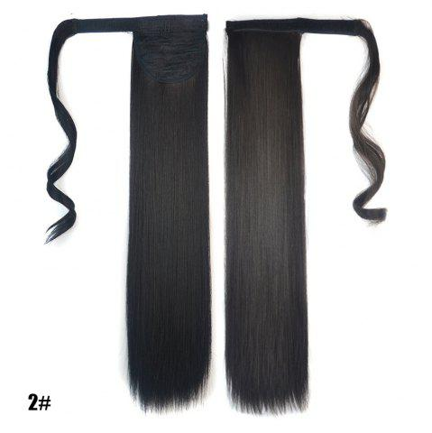 Store Long Straight Clip in Hair Ponytail Hairpiece with Magic Wrap Around