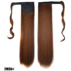 Long Straight Clip in Hair Ponytail Hairpiece with Magic Wrap Around -