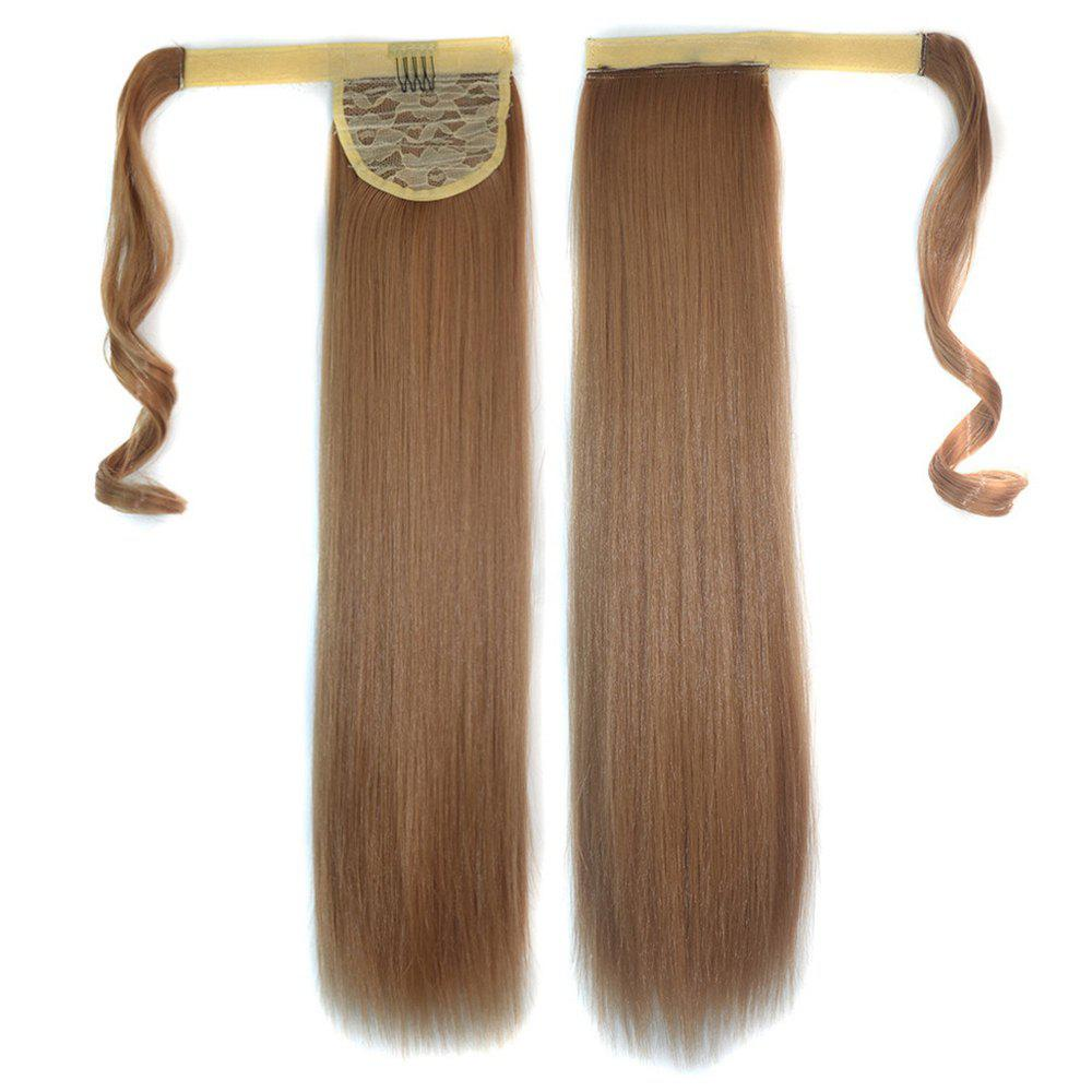 Sale Long Straight Clip in Hair Ponytail Hairpiece with Magic Wrap Around