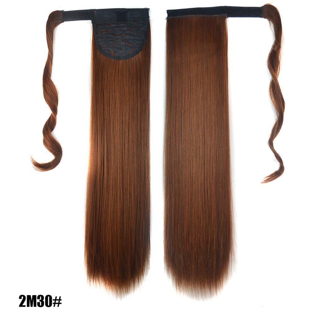 Shops Long Straight Clip in Hair Ponytail Hairpiece with Magic Wrap Around