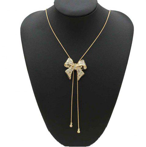 New Style Bow Pendentif avec collier de diamants