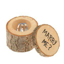 Wooden Wedding Ring Box Original Wood Printing Ring Box Wedding Festival Party Arts and Crafts -