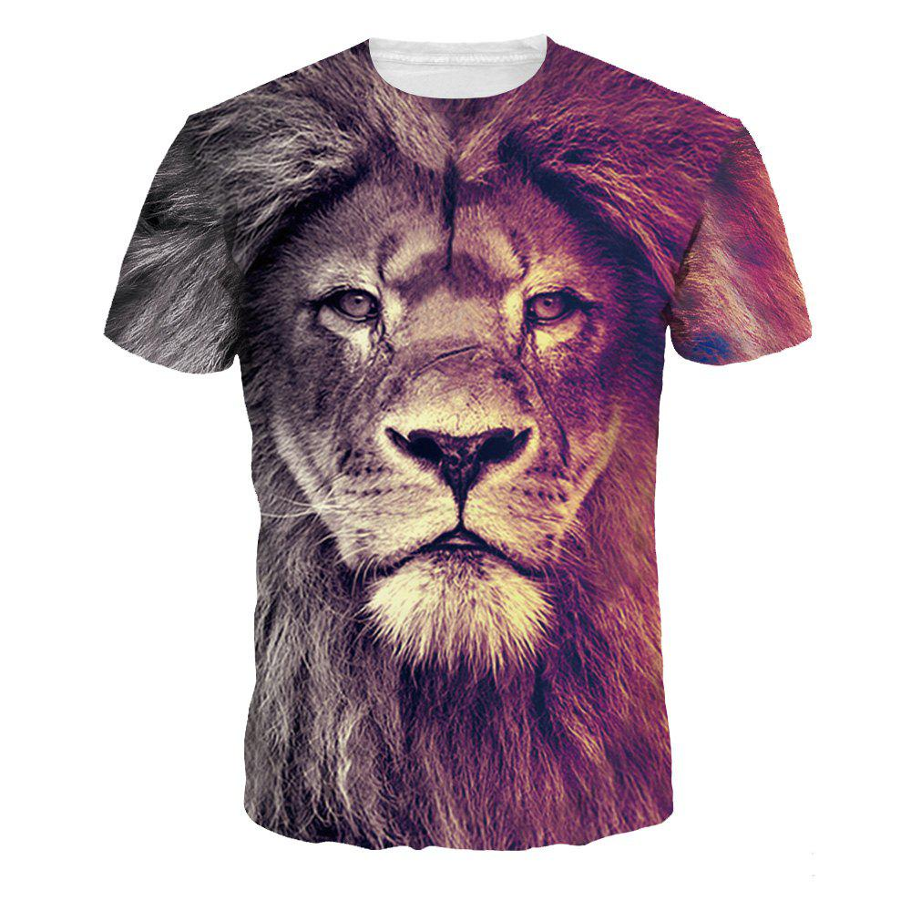 Store Quick-Drying Lion Digital Printing Short Sleeve Breathable T-shirt
