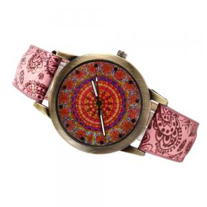 Porcelain Printed Vintage Quartz Student Fashion Watch -