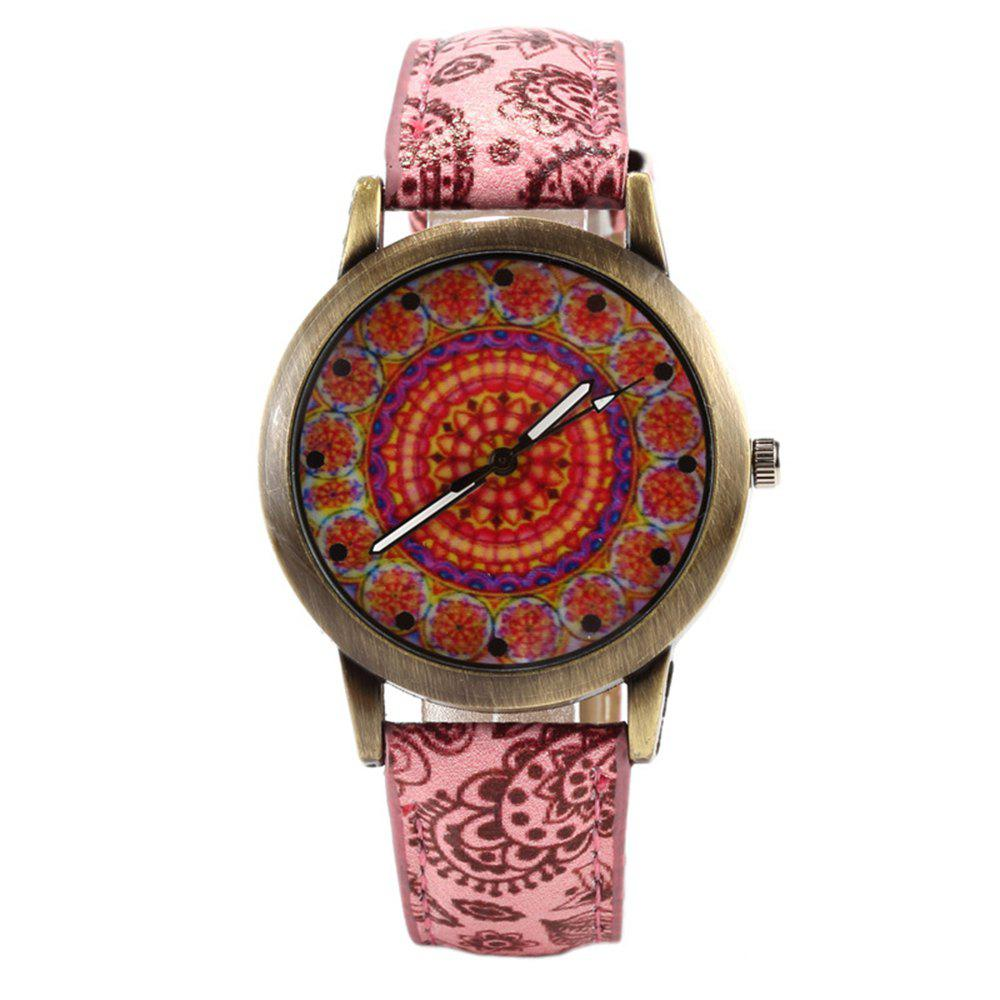 Unique Porcelain Printed Vintage Quartz Student Fashion Watch