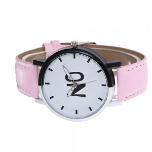 Fashion New Girl Boys Students Leather Watch -