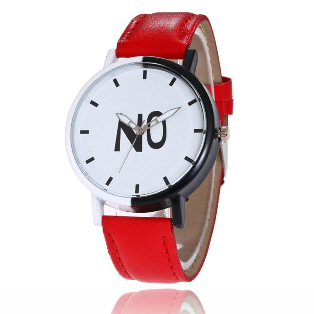 Online Fashion New Girl Boys Students Leather Watch