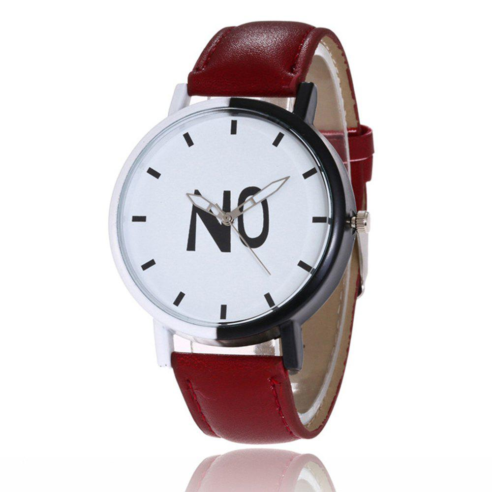 Chic Fashion New Girl Boys Students Leather Watch