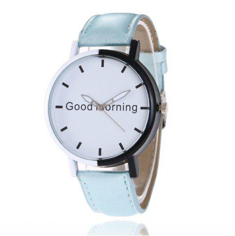 Unique Good Morning English Word Leather Strap Watch