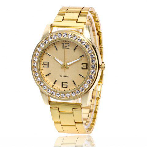 Outfits Business Casual Artificial Diamond Studded Steel Strap Watch
