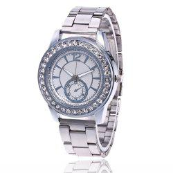Business Men Fashion Diamond Digital Steel Band Watch -
