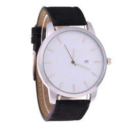 Big Dial Men Calendar Fashion Business Quartz Watch -
