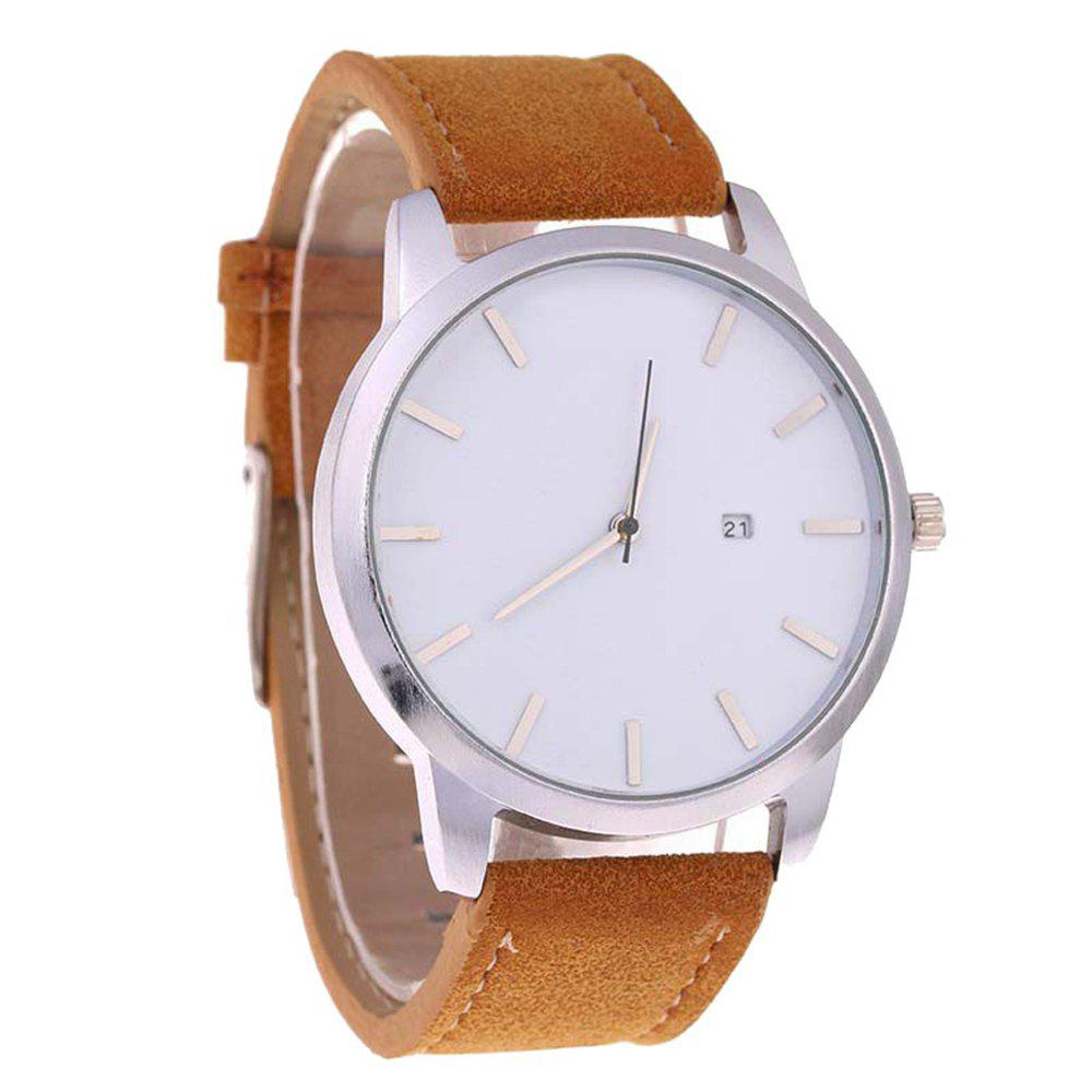 Sale Big Dial Men Calendar Fashion Business Quartz Watch
