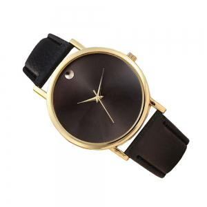 Personality Fashion Men Leather Belt Watch -