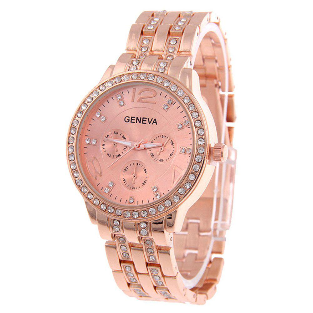 Latest Geneva Stainless Steel Fashion Diamond Lady Watch