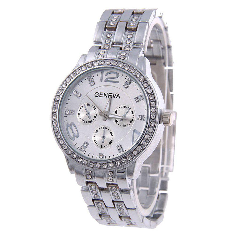 Outfits Geneva Stainless Steel Fashion Diamond Lady Watch