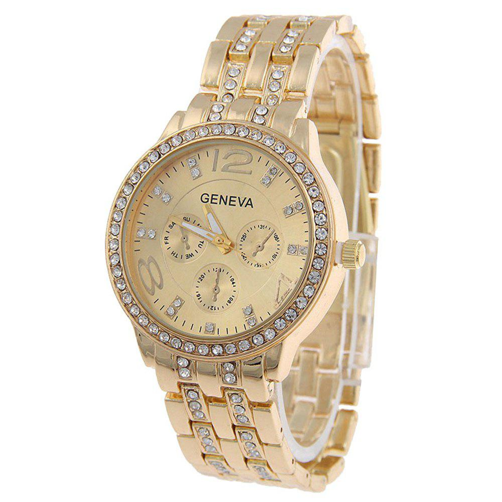 Hot Geneva Stainless Steel Fashion Diamond Lady Watch